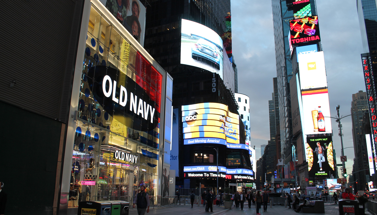 Exterior of Old Navy Times Square Store