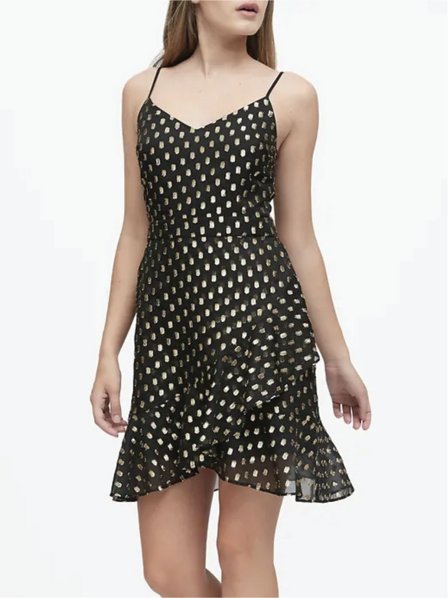 Banana Republic Metallic Dot Mini Dress