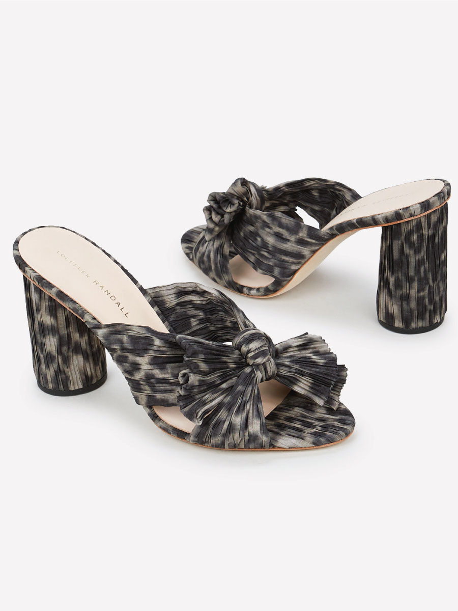 Loeffler Randall Leopard Sandals at Intermix