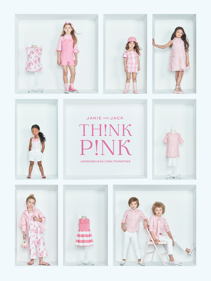 Poster with Kids Modeling Pink Outfits