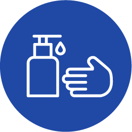 Icon representing someone cleaning their hands