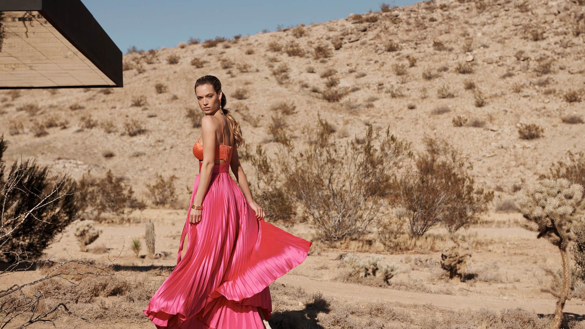 Woman Modeling in the Desert
