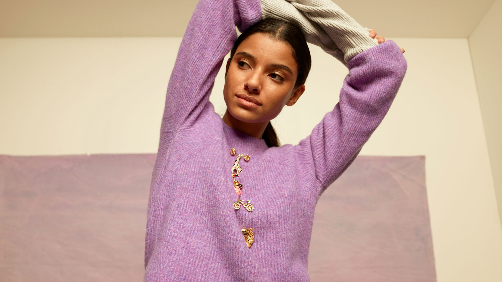 Woman Modeling a Sweater