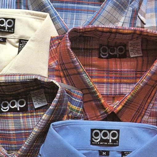 Gap folded shirts