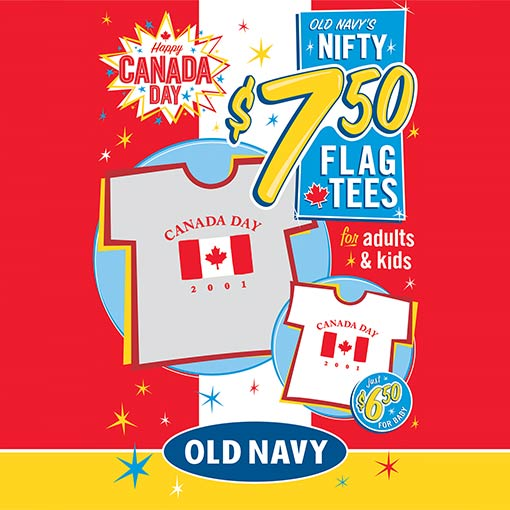 Old Navy Canada ad