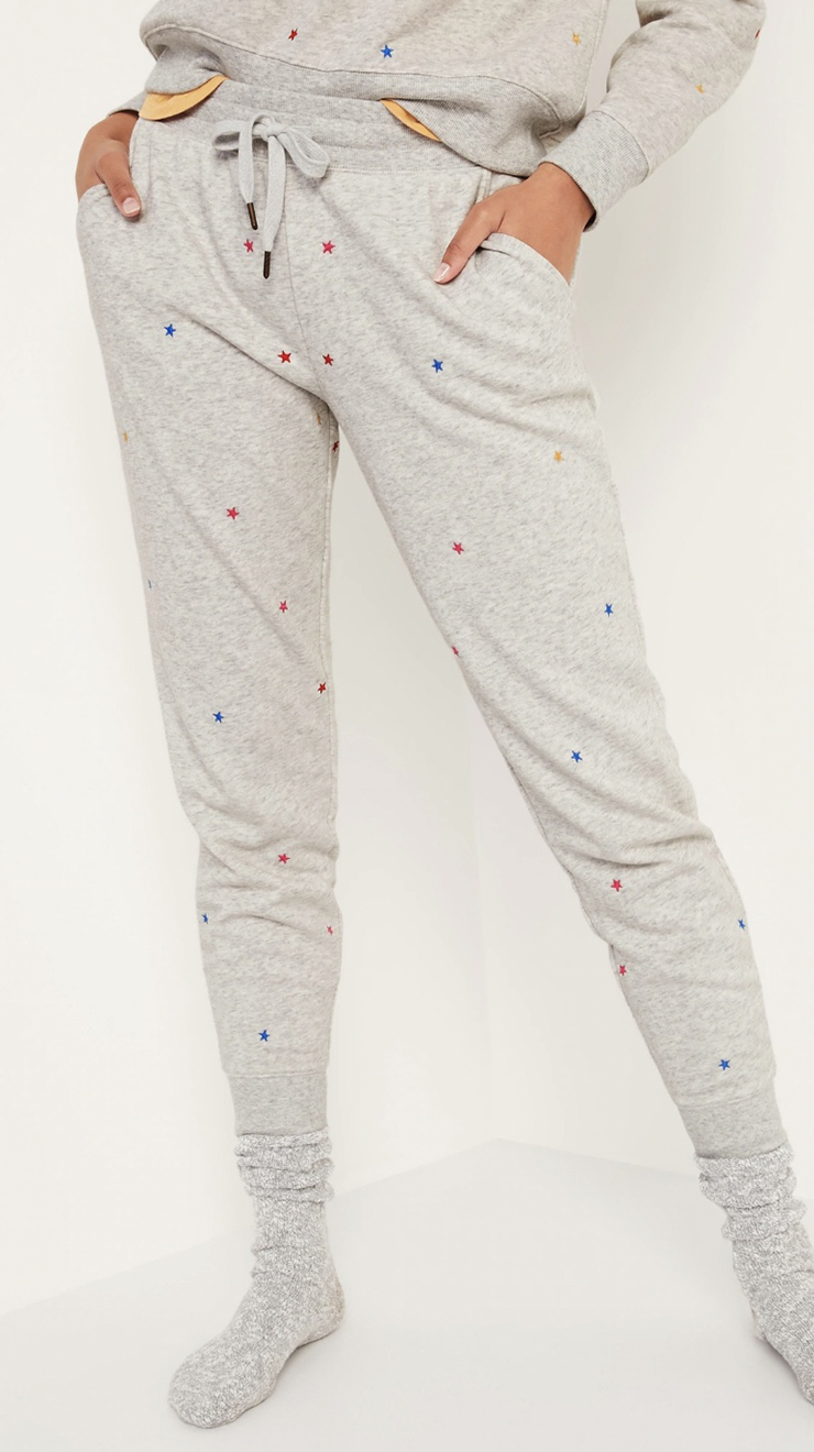 Old Navy Mid-Rise French Terry Tapered Jogger Sweatpants for Women