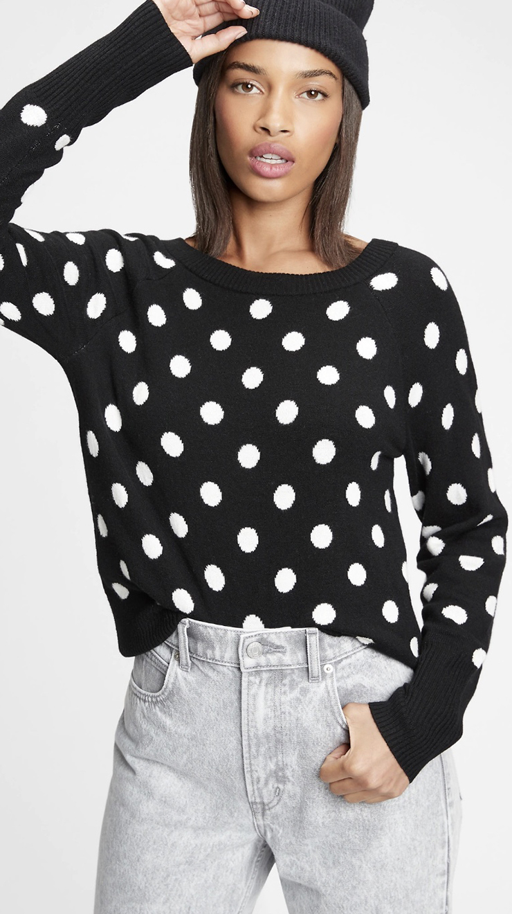 Gap Dotty Boatneck Sweater