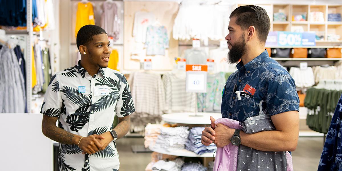 Two associates talking